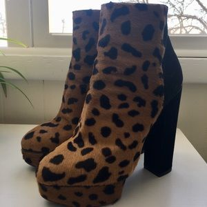 Charlotte Olympia 'Valerie' Leopard Calf Boots